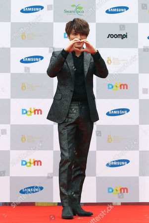 Kim Jae-joong South Korean actor and singer Kim Jae-joong poses at the Seoul International Drama Awards in Seoul, South Korea