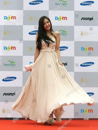 Son Na-eun South Korean actress Son Na-eun poses at the Seoul International Drama Awards in Seoul, South Korea
