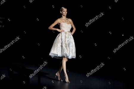 Editorial picture of Spain Fashion Week Hannibal Laguna, Madrid, Spain