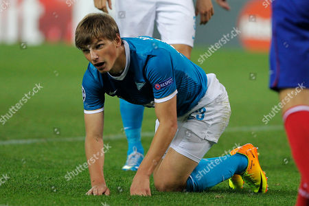 Andrey Arshavin Zenit St Petersburg Andrey Arshavin gets to his feet during a Group G Champions League soccer match against Atletico Madrid at the Vicente Calderon stadium in Madrid