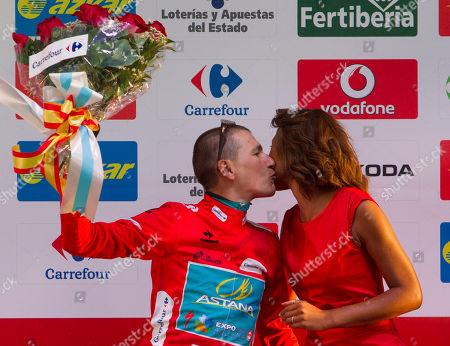 Editorial image of Spain Vuelta Cycling, Sanxenxo, Spain