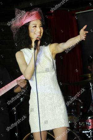 """Eva Huang Chinese singer Eva Huang smiles during a media event promoting her new album """"Facing Love"""" in Taipei, Taiwan"""
