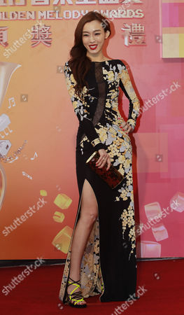 Stock Image of Christine Fan American-born Taiwanese singer Christine Fan poses for photographers upon arrival for the 24th Golden Melody Awards in Taipei, Taiwan, . Leong is a guest at this year's Golden Melody Awards-one of the Chinese-language pop music world's biggest annual events