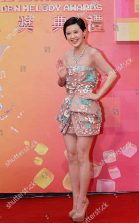 Stock Picture of Amber Kuo Taiwanese singer Amber Kuo waves upon arrival for the 24th Golden Melody Awards in Taipei, Taiwan, . Kuo is a guest at this year's awards, one of the Chinese-language pop music world's biggest annual events