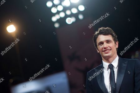 """James Franco Director James Franco poses for photographers on the red carpet for the screening of the film """"Child of God"""" at the 70th edition of the Venice Film Festival, in Venice, Italy. Franco and Chris O'Dowd will make their Broadway debuts next year as unlikely friends in a stage adaptation of """"Of Mice and Men."""" Producer David Binder said that """"Milk"""" star Franco will play George and Irish actor and """"Bridesmaids"""" star O'Dowd will play Lennie in the revival which starts performances in March 2014 at the Longacre Theatre"""