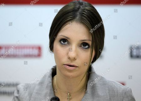 Eugenia Tymoshenko Eugenia Tymoshenko daughter of jailed former Ukrainian Prime Minister, Yulia Tymoshenko, speaks during a news conference in Kiev, Ukraine