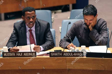 Mustafa Haji Abdinur, Richard Engel AFP Somalian correspondent Mustafa Haji Abdinur, left, addresses a United Nations Security Council meetingon the protection of civilians in armed conflict and the protection of journalists, at U.N. headquarters. NBC News chief foreign correspondent Richard Engel listens