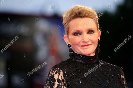 Author Robyn Davidson possess on the red carpet for the film Tracks, during the 70th edition of the Venice Film Festival in Venice