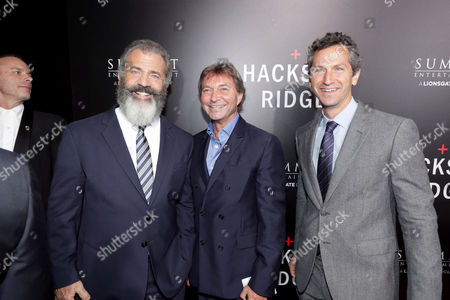 Mel Gibson, Patrick Wachsberger and Erik Feig