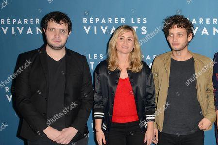 Karim Leklou, movie realisator Katell Quillevere and Theo Cholbi