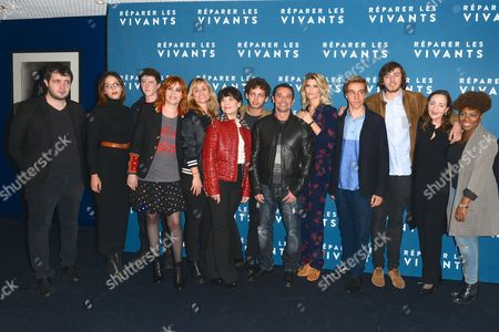 Stock Image of Karim Leklou, Guest, Finnegan Oldfield, Emmanuelle Seigner, Katell Quillevere, Anne Dorval, Theo Cholby, Kool Chen, Alice Taglioni, Gabin Verdet, guest, Dominique Blanc and a guest