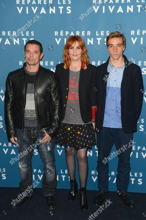 Kool Shen, Emmanuelle Seigner and Gabin Verdet