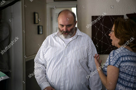 Yasmeen drives Cathy Matthews, as played by Melanie Hill, to Alex's dad Nigel's, as played by Jim Cartwright, house. But when Cathy knocks on the door, a hostile Nigel refuses to discuss Alex and slams it in her face. (Ep 8994 - Monday 19th September 2016)