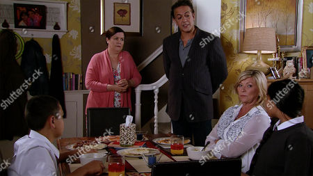 Stock Picture of As Erica Holroyd's, as played by Claire King, patience with Aadi Alahan, as played by Kennon Ditchett, and Asha Alahan, as played by Tanisha Gorey,wears thin, Dev Alahan, as played by Jimmi Harkishin, confronts Mary Taylor, as played by Patti Clare, with a copy of her contract, pointing out she's breaking its terms by leaving Erica to cover her duties. (Ep 8997 - Friday 23rd September 2016)