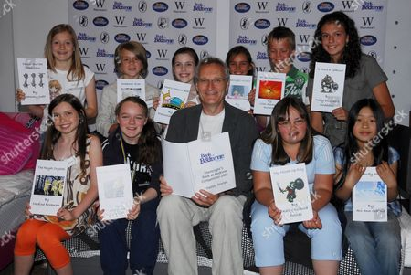 Children's author Jeremy Young with young book finalists