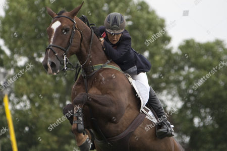 Hallo Sailor ridden by Tina Fletcher for team Great Britain, competing in The Meydan FEI Nations Cup of Great Britain during The Longines Royal International Horse Show, held at The All England Jumping Course, Hickstead.