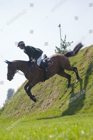 CYRANO DE LIZAMI ridden by Daniel COYLE (IRL) competing in the Bunn Leisure Speed Derby during the Hickstead British Jump Derby Meeting, held at The All England Jumping Course, Hickstead.