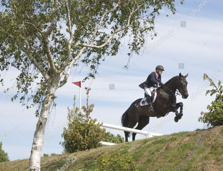 PROMISED LAND ridden by Tina FLETCHER (GBR) competing in the DFS Derby during the Hickstead British Jump Derby Meeting, held at The All England Jumping Course, Hickstead.