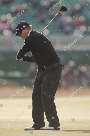 Steven Stricker from the USA in action on the first day of The Open Championship (also known as The British Open) played on The Royal and Ancient Old Course.