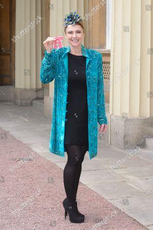 Emma Samms receives an MBE