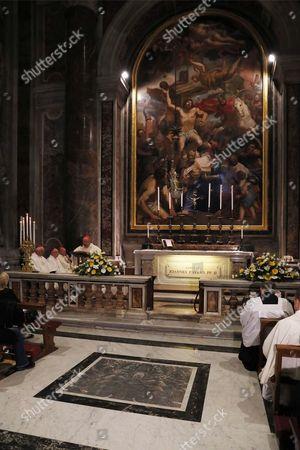 Stock Image of Holy Mass celebrated by Cardinal Stanislaw Dziwisz