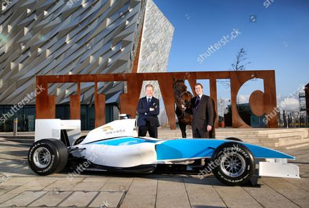 'Formula One' Line Up For Down Royal Festival Of Racing, Titanic Exhibition, Belfast 25/10/2016. ?FORMULA ONE? LINE UP FOR DOWN ROYAL FESTIVAL OF RACING: A stellar line up has been announced for the JNWine.com (Grade 1) Champion Chase at the Down Royal Festival of Racing, 4th and 5th November 2016, with the calibre of entrants comparable to a Formula One event coming to Northern Ireland. The JNWine.com (Grade 1) Champion Chase, taking place at Down Royal on Saturday 5th November, will be the first Grade 1 race of the National Hunt season in the British Isles and will see more than 1.5 million people tune in to watch one of Northern Ireland?s leading sporting events. Mike Todd (right), General Manager at Down Royal, and Grand National winning jockey turned broadcaster, Mick Fitzgerald (left), were joined by a panel which included Rory Best, Captain of the Ireland Rugby team and Ulster Rugby hooker; and Jack Kennedy, the current leading rider in Ireland. at the Festival Launch in the iconic Titanic Belfast. General admission can be pre-booked online starting at £12 and a range of corporate and hospitality packages are also available with more information at www.downroyal.com