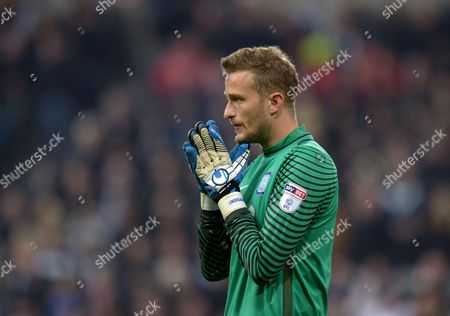 Anders Lindegaard of Preston North End during the EFL Cup - Fourth Round match between Newcastle United and Preston North End played at St. James? Park, Newcastle upon Tyne on 25th October 2016