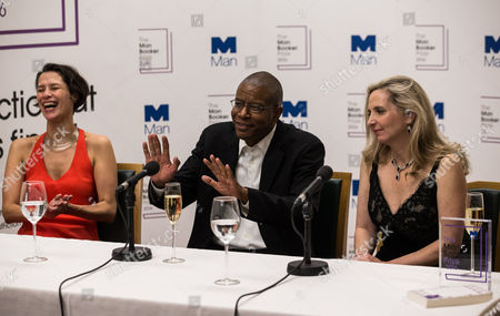 Gaby Wood (Literary Director of the Booker Prize Foundation), Paul Beatty, (won the 2016 award for his book 'The Sellout') and Dr Amanda Foreman (2016 Chair of judges)