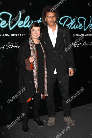 Stock Picture of Isabella Rossellini and Roberto Rossellini (son)