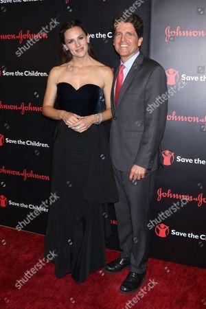 Jennifer Garner and Mark Shriver