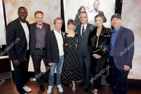 Omar Sy, Jon Donahue, Brian Grazer, Felicity Jones, Tom Hanks, Rita Wilson, Ron Howard