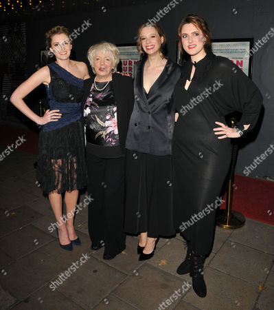 Laura Carmichael, Alison Steadman, Chloe Pirrie, Chanya Button and Charlie Covell