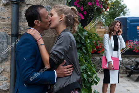 Behind the Woolpack, Holly Barton, as played by Sophie Powles, and Jai Sharma, as played by Chris Bisson, are kissing when they hear Megan approaching. They jump apart but is their secret out' (Ep 7623 - Friday 23rd September 2016)