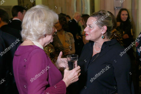 Camilla Duchess of Cornwall and Deborah Levy