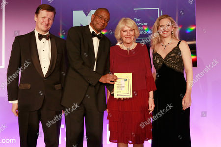 Luke Ellis, Winner of the 2016 Man Booker Prize for his novel 'The Sellout', Paul Beatty, Camilla Duchess of Cornwall and Dr Amanda Foreman