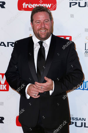 Australian actor Shane Jacobson arrives for the 2013 Logie Awards at Crown Casino in Melbourne, Australia