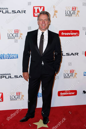 Stock Image of Erik Thomson Australian actor Erik Thomson arrives for the 2013 Logie Awards at Crown Casino, Melbourne, Australia