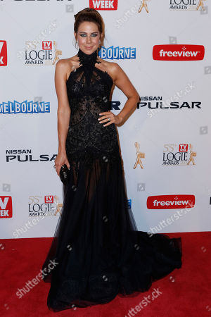 Australian actress Kate Ritchie arrives for the 2013 Logie Awards at Crown Casino in Melbourne, Australia