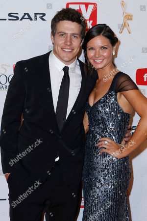 Stephen Peacocke, Bridgette Sneddon Australian actor Stephen Peacocke from Home and Away and girlfriend Bridgette Sneddon arrive for the 2013 Logie Awards at Crown Casino, Melbourne, Australia