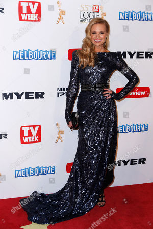 Sonia Kruger Australian television personality Sonia Kruger arrives for the 2013 Logie Awards at Crown Casino, Melbourne, Australia