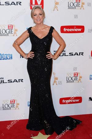 Rebecca Gibney Australian actress Rebecca Gibney arrives for the 2013 Logie Awards at Crown Casino, Melbourne, Australia