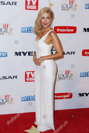 Stock Picture of Australian television personality Catriona Rowntree arrives for the 2013 Logie Awards at Crown Casino in Melbourne, Australia