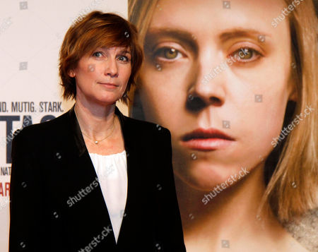 """Sherry Hormann Director Sherry Hormann poses for photographers before the premiere of the film """"3096 Days"""" in Vienna, Austria, . The film tells the story of Natascha Kampusch who was abducted as a schoolgirl and held prisoner in a cellar for almost nine years"""