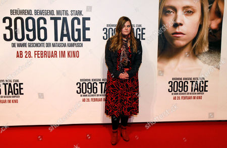 """Natascha Kampusch Austrian Natascha Kampusch poses for photographers before the premiere of the film """"3096 Days"""" in Vienna, Austria, . The film tells the story of Kampusch who was abducted as a schoolgirl and held prisoner in a cellar for almost nine years"""
