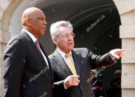 Letsie III, Heinz Fischer King Letsie III of Lesotho talks with Austrian President Heinz Fischer, from left, during a welcoming ceremony in front of the Hofburg palace in Vienna, Austria, . King Letsie III is in Austria for a one-day official working visit