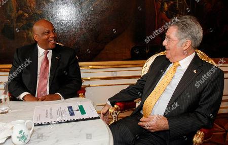 Letsie III, Heinz Fischer Austrian President Heinz Fischer, right, talks with King Letsie III of Lesotho, left, in the Hofburg palace in Vienna, Austria, . King Letsie III is in Austria for a one-day official working visit