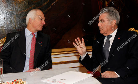 Heinz Fischer, Hans Adam II of Liechtenstein Austrian President Heinz Fischer, right, talks with Prince Hans Adam II of Liechtenstein, left, during their meeting the Hofburg palace in Vienna, Austria