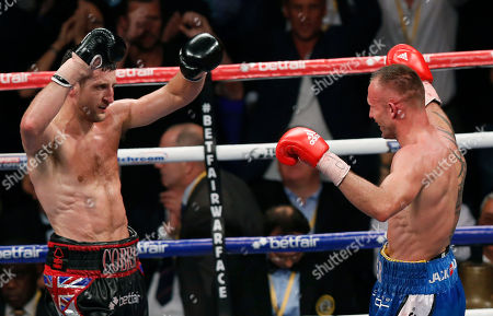 Carl Froch, Mikkel Kessler Carl Froch of Britain, left, and Mikkel Kessler of Denmark react at the end of their super-middleweight world title unification boxing match at O2 Arena in London