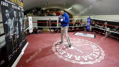 Mikkel Kessler of Denmark trains during a media opportunity in London, . Mikkel Kessler will fight against Carl Froch in a super-middleweight match on May 25 in London