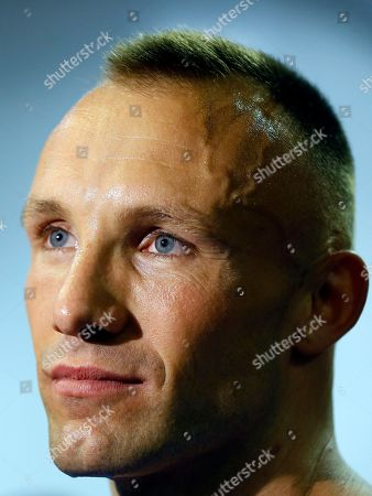 Mikkel Kessler of Denmark listens during a media interview opportunity in London, . Mikkel Kessler will fight against Carl Froch in a super-middleweight match on May 25 in London